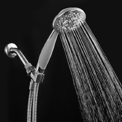 HotelSpa-High-Fashion-Extra-Large-7-Setting-Luxury-Hand-Held-Shower-Head-with-Angle-Adjustable-Bracket-and-Stainless-Steel-Hose-Soft-Grip-Rubber-Dial-Rim-and-Handle-425-Inch-Chrome-Face-0-0