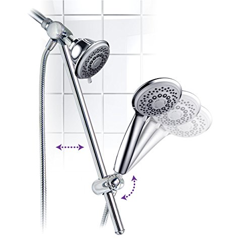 HotelSpa-Instant-Mount-Drill-Free-HeightAngle-Adjustable-30-Setting-SpiralFlo-3-Way-Shower-Head-Handheld-Showerhead-Slide-Bar-Combo-0-1