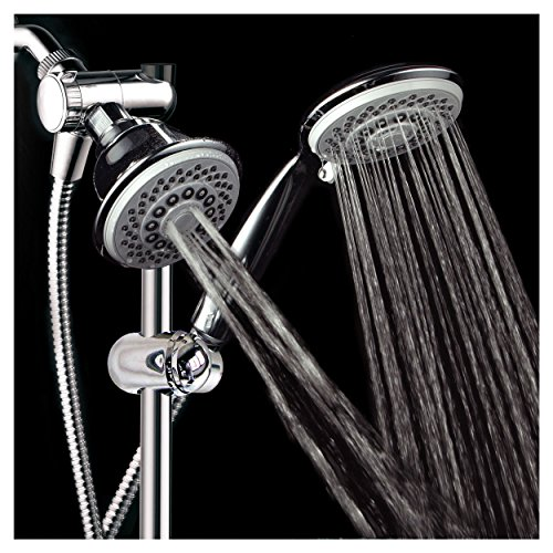 HotelSpa-Instant-Mount-Drill-Free-HeightAngle-Adjustable-30-Setting-SpiralFlo-3-Way-Shower-Head-Handheld-Showerhead-Slide-Bar-Combo-0