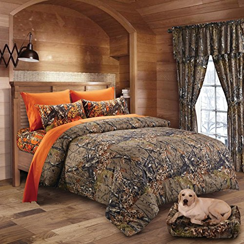 Hunter-Camo-Comforter-Sheet-Pillowcase-Set-Brown-Orange-0
