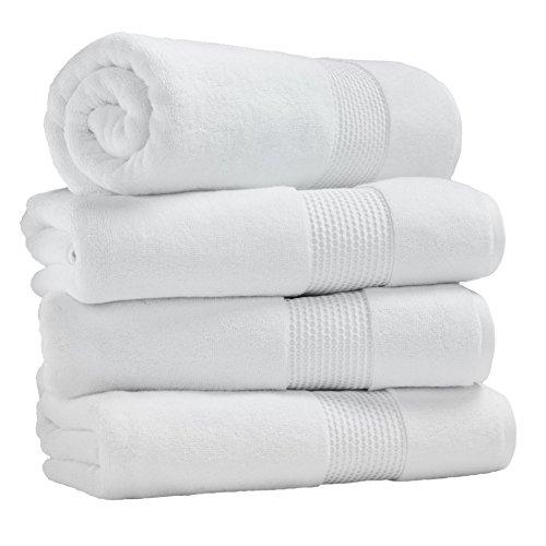 Ice-White-Super-Absorbent-Luxury-Hotel-Spa-Bath-Towel-100-Genuine-Turkish-Combed-Cotton-27-x-54-Set-of-4-White-0-1