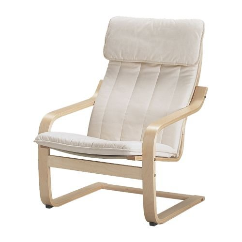 Ikea-Poang-Chair-Armchair-with-Cushion-Cover-and-Frame-0-0