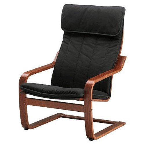 Ikea-Poang-Chair-Armchair-with-Cushion-Cover-and-Frame-0