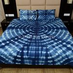 Indigo-Bedding-Set-Shibori-Indian-Bedspread-Queen-Tie-Dye-Bed-Cover-With-Pillow-Cover-Handmade-Cotton-Bedsheet-0