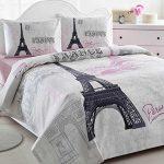 Istanbul-Home-Collection-Paris-Eiffel-Tower-Themed-Ranforce-100-Turkish-Cotton-Full-Queen-Size-Quilt-Duvet-Cover-Set-Bedding-Linens-4-Pcs-0