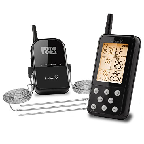 Ivation-Long-Range-Wireless-Meat-Thermometer-w-Bonus-Probe-Remote-BBQ-Cooking-Thermometer-Monitors-Up-To-325-Feet-Away-3-Probes-Included-0