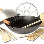 Joyce-Chen-22-9938-Pro-Chef-14-Inch-10-Piece-Excalibur-Non-Stick-Wok-Set-0