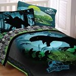 Jurassic-World-Bedding-Set-Biggest-Growl-Dinosaurs-Comforter-and-Sheet-Set-0-0