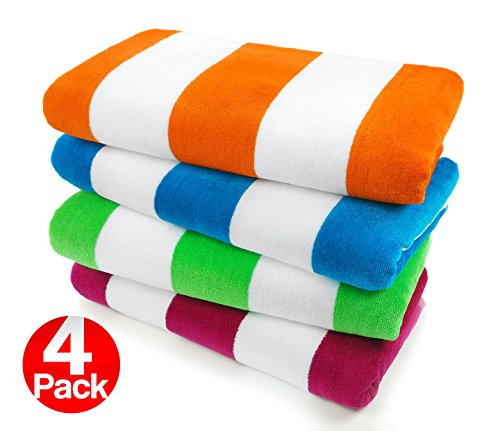 Kaufman-Velour-Cabana-Towels-4-Pc-Pack-30-X-60-0