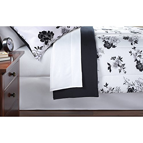Keeco-Mainstays-8-Piece-OPP-Floral-Bed-in-Bag-Comforter-Set-Queen-Black-White-0-1