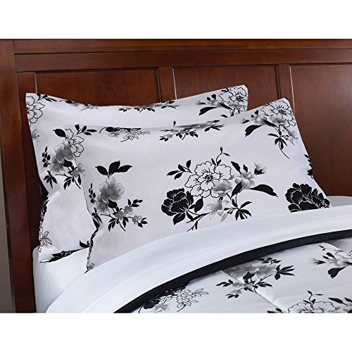 Keeco-Mainstays-8-Piece-OPP-Floral-Bed-in-Bag-Comforter-Set-Queen-Black-White-0