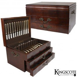 Kingscote-Silversmiths-Jamestown-2-Drawer-Flatware-Chest-Mahogany-200-Cap-0