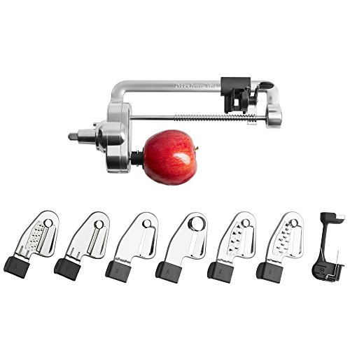 KitchenAid-KSM2APC-Spiralizer-Plus-Attachment-with-Peel-Core-and-Slice-Silver-0-0