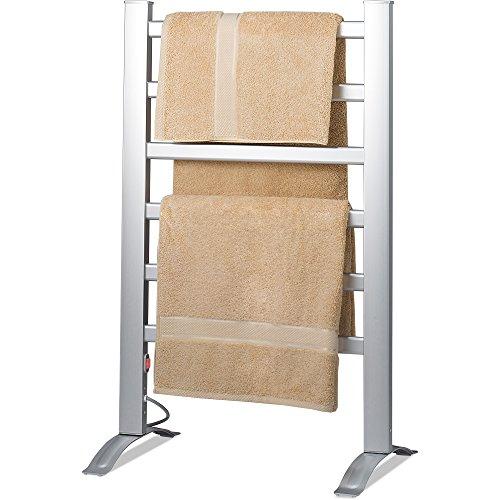 Knox-Freestanding-Mountable-Towel-Warmer-Drying-Rack-6-Bars-Aluminum-Frame-0