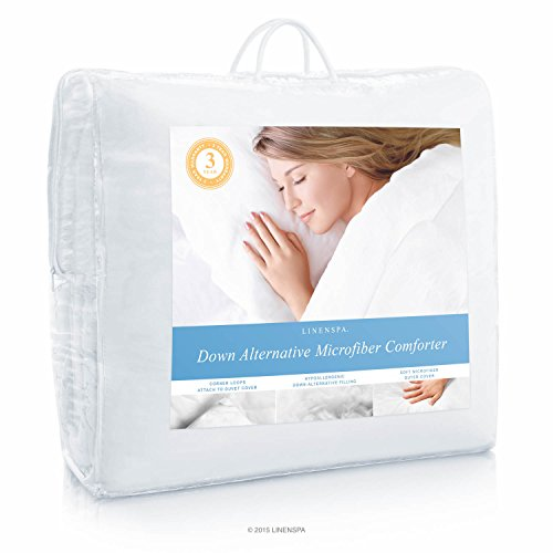 LINENSPA-All-Season-White-Down-Alternative-Quilted-Comforter-with-Corner-Duvet-Tabs-0-1