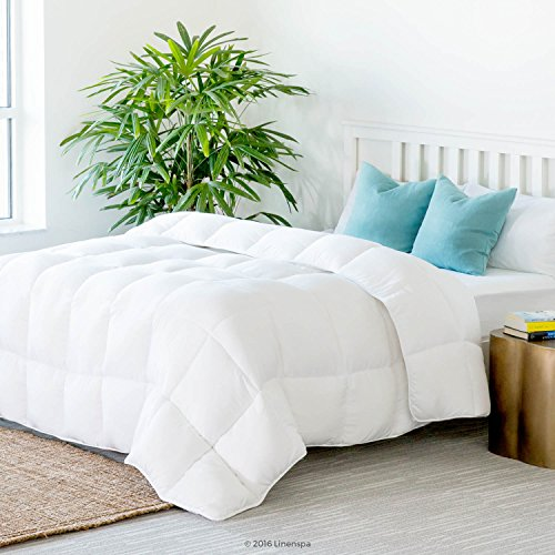 LINENSPA-All-Season-White-Down-Alternative-Quilted-Comforter-with-Corner-Duvet-Tabs-0