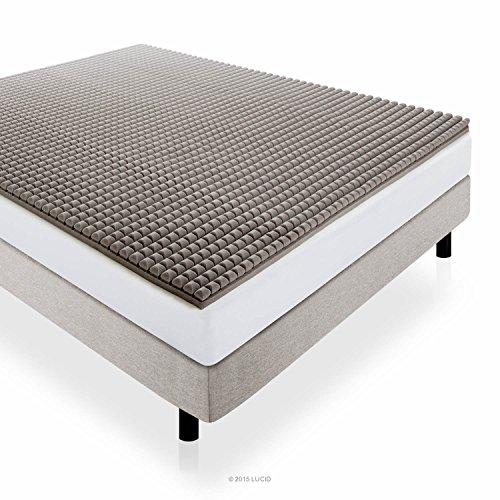 LUCID-2-Inch-Bamboo-Charcoal-Ultra-Ventilated-Memory-Foam-Mattress-Topper-0