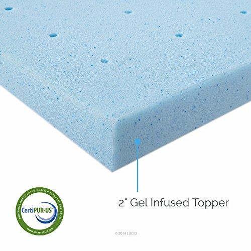 LUCID-2-Inch-Gel-Infused-Ventilated-Memory-Foam-Mattress-Topper-3-Year-Warranty-0-0