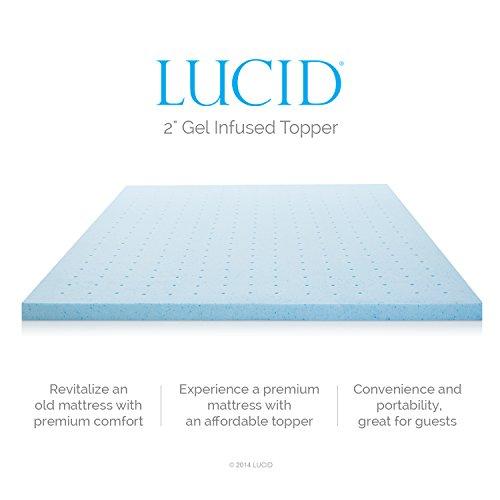 LUCID-2-Inch-Gel-Infused-Ventilated-Memory-Foam-Mattress-Topper-3-Year-Warranty-0-1