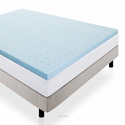 LUCID-2-Inch-Gel-Infused-Ventilated-Memory-Foam-Mattress-Topper-3-Year-Warranty-0