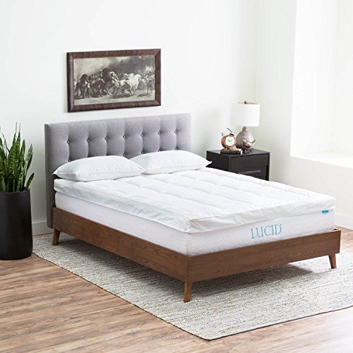 LUCID-Hybrid-Down-Alternative-Gel-Infused-Memory-Foam-Mattress-Topper-0