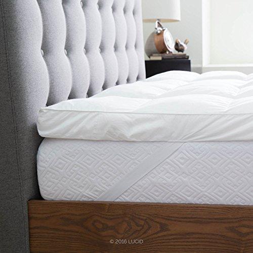 LUCID-Plush-Down-Alternative-Fiber-Bed-Topper-Allergen-Free-0-1