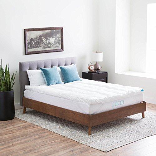 LUCID-Plush-Down-Alternative-Fiber-Bed-Topper-Allergen-Free-0