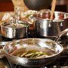 Lagostina-Q553SA64-Martellata-Tri-ply-Hammered-Stainless-Steel-Dishwasher-Safe-Oven-Safe-Cookware-Set-0-0