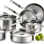Lagostina-Q553SA64-Martellata-Tri-ply-Hammered-Stainless-Steel-Dishwasher-Safe-Oven-Safe-Cookware-Set-0