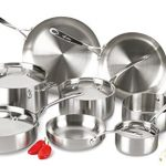 Lagostina-Q555SD-Axia-Tri-Ply-Stainless-Steel-Dishwasher-Safe-Oven-Safe-13-Piece-Silver-Cookware-Set-0-0