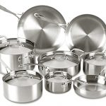 Lagostina-Q555SD-Axia-Tri-Ply-Stainless-Steel-Dishwasher-Safe-Oven-Safe-13-Piece-Silver-Cookware-Set-0