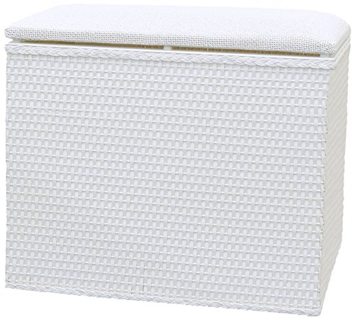 Lamont-Limited-Barrington-Bench-Hamper-185-by-1225-Inch-White-0