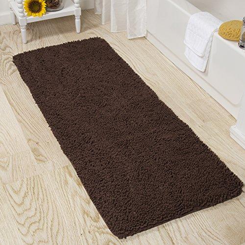 Lavish-Home-2-Piece-Memory-Foam-Shag-Bath-Mat-Set-Burgundy-0