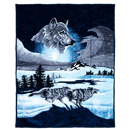 Lavish-Home-Heavy-Thick-Plush-Mink-Blanket-8-Pound-Wolf-0-0