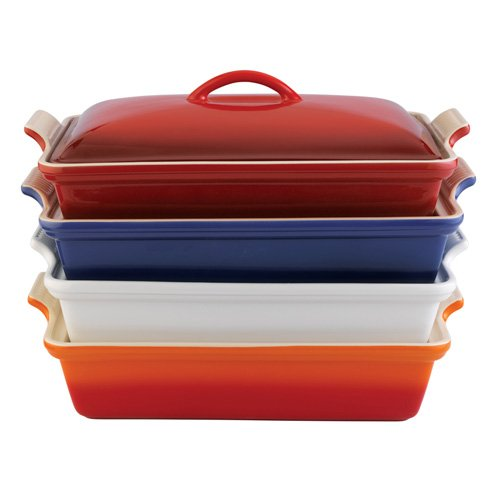 Le-Creuset-Heritage-Stoneware-12-by-9-Inch-Covered-Rectangular-Dish-0