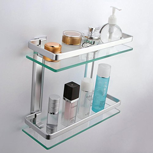 Lightinthebox-Contemporary-Tempered-Glass-Aluminum-Silver-Sand-Sprayed-Space-Aluminium-Double-deck-Rectangular-Bathroom-Glass-Shelf-0-0