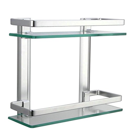 Lightinthebox-Contemporary-Tempered-Glass-Aluminum-Silver-Sand-Sprayed-Space-Aluminium-Double-deck-Rectangular-Bathroom-Glass-Shelf-0-1