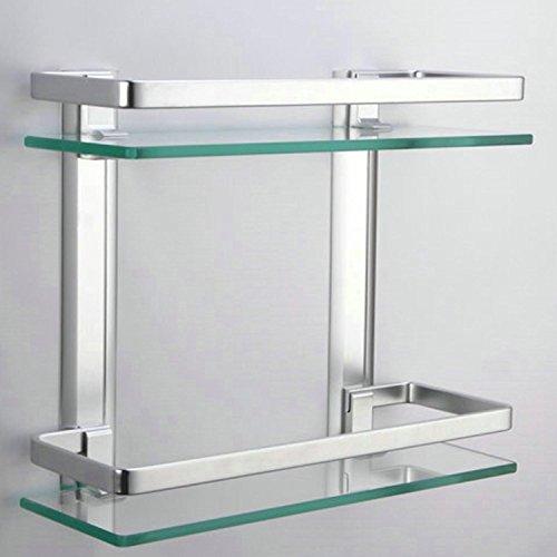 Lightinthebox-Contemporary-Tempered-Glass-Aluminum-Silver-Sand-Sprayed-Space-Aluminium-Double-deck-Rectangular-Bathroom-Glass-Shelf-0