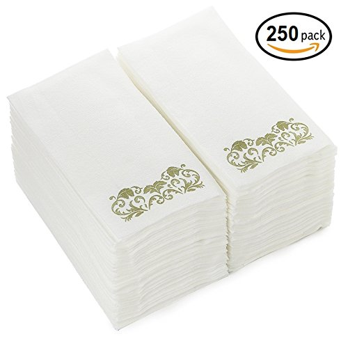 Linen-Feel-Guest-Towels-250-Pack-Disposable-Cloth-Like-Tissue-Paper-Hand-Napkins-Great-for-Bathroom-and-Powder-Room-0