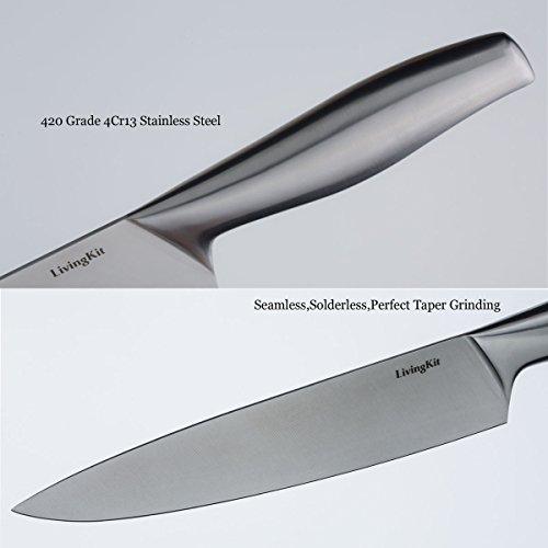 LivingKit-Stainless-Steel-Kitchen-Knife-Block-Set-14-Piece-0-0