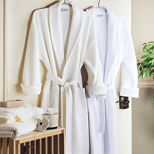 Luxor-Linens-100-Organic-Cotton-Mr-Mrs-Medium-Weight-Spa-Robe-Perfect-Wedding-Gifts-0-0