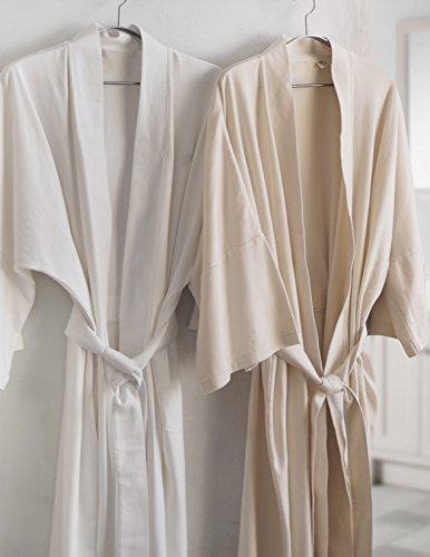 Luxor-Linens-Lightweight-Bathrobe-Set-Delano-Collection-100-Organic-Cotton-Bathrobes-Luxurious-Soft-Plush-and-Durable-Set-of-His-Her-Robes-Available-with-Customized-Monogram-0-0