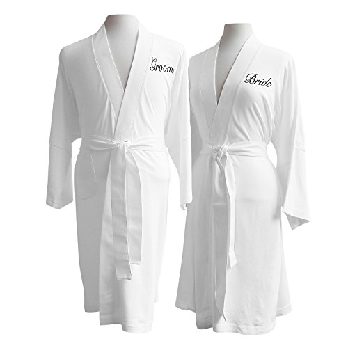 Luxor-Linens-Lightweight-Bathrobe-Set-Delano-Collection-100-Organic-Cotton-Bathrobes-Luxurious-Soft-Plush-and-Durable-Set-of-His-Her-Robes-Available-with-Customized-Monogram-0