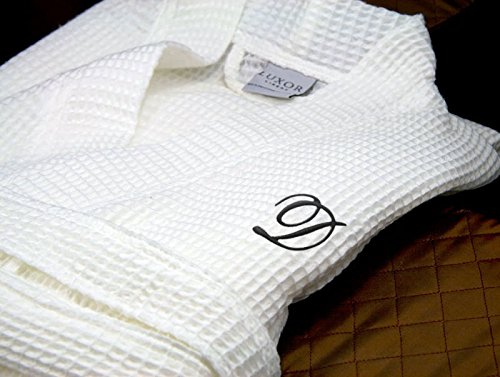 Luxor-Linens-Waffle-Weave-Spa-Bathrobe-Ciragan-Collection-Luxurious-Super-Soft-Plush-Lightweight-100-Egyptian-Cotton-Made-in-Turkey-Available-with-Custom-Monogramming-0-2