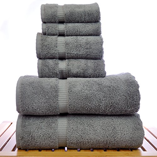 Luxury-Hotel-Spa-Towel-Turkish-Cotton-Bath-Towel-Bundle-Gray-6-Piece-Towel-Set-0-0