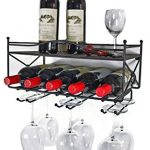 Mango-Steam-Wall-mounted-Wine-Rack-with-Shelf-and-Stemware-Glass-Holder-0-0