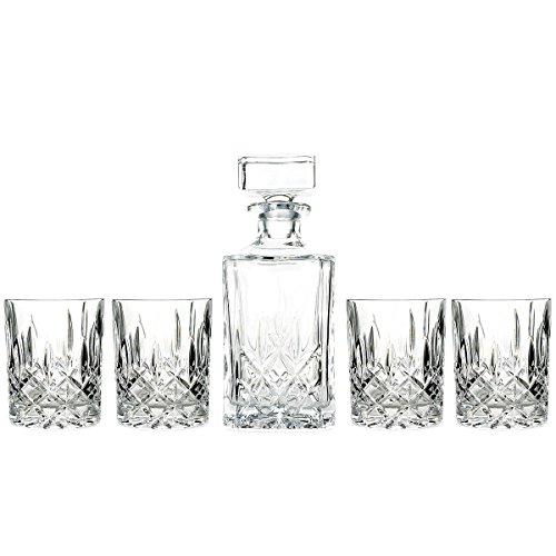 Marquis-by-Waterford-Decanter-and-Set-of-Four-Double-Old-Fashioned-Glasses-0