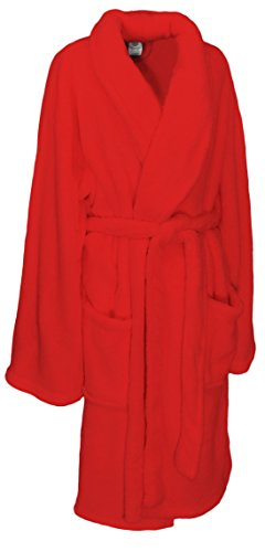 Martha-Stewart-Collection-Plush-Comfort-Bath-Robe-Red-0