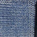 Marubhumi-Hand-Block-Printed-Kantha-Quilt-Queen-Size-Patchwork-Cotton-Bedspread-Blue-0