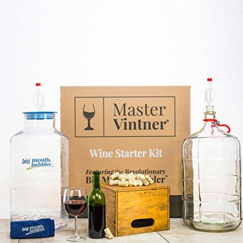 Master-Vintner-Wine-Making-Equipment-Starter-Kit-with-Plastic-Big-Mouth-Bubbler-and-Glass-Carboy-Fermentors-0-0